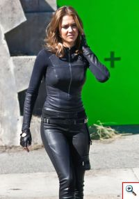 Jessica Alba on Spy Kids 4D set...